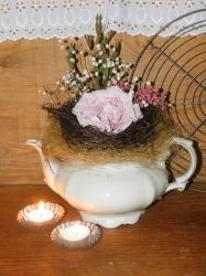 Brocante paper roses - Boeket