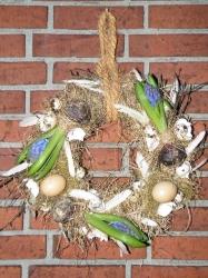 Voorjaarskrans met hyacinten